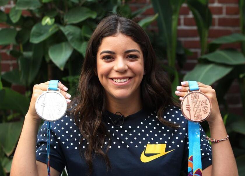 El mejor salto de la medallista olímpica Alejandra Orozco