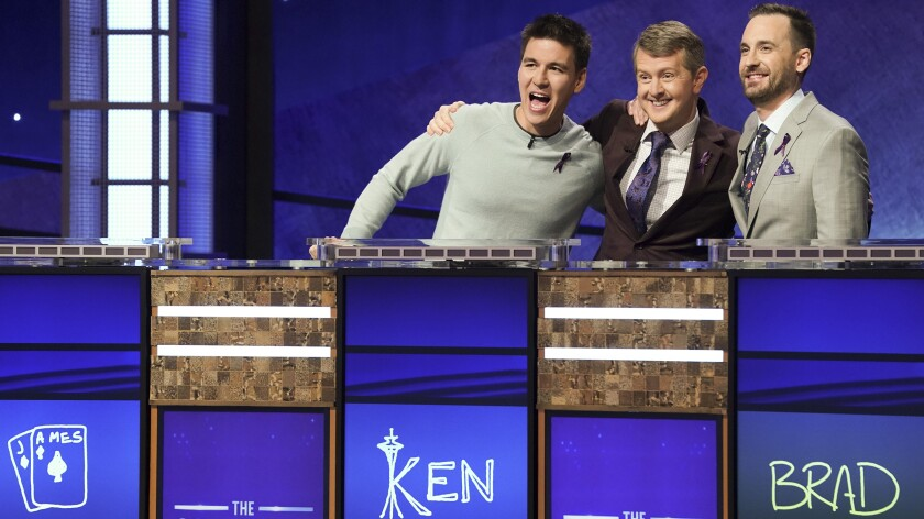 """James Holzhauer, Ken Jennings, Brad Rutter on """"Jeopardy! The Greatest of All Time."""""""