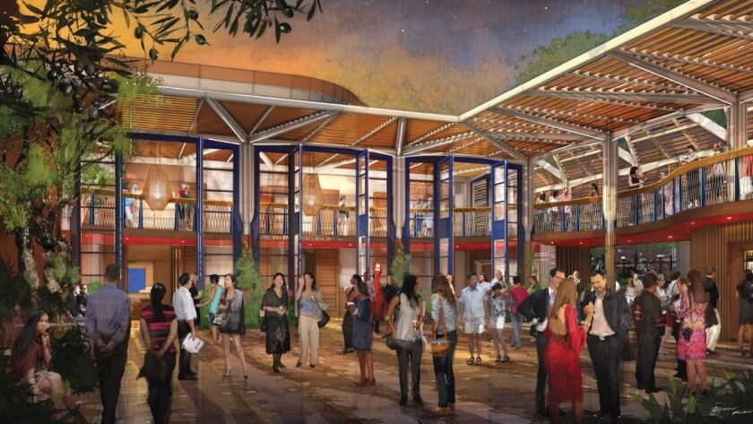 The courtyard will double as a lobby and gathering space for both theaters.