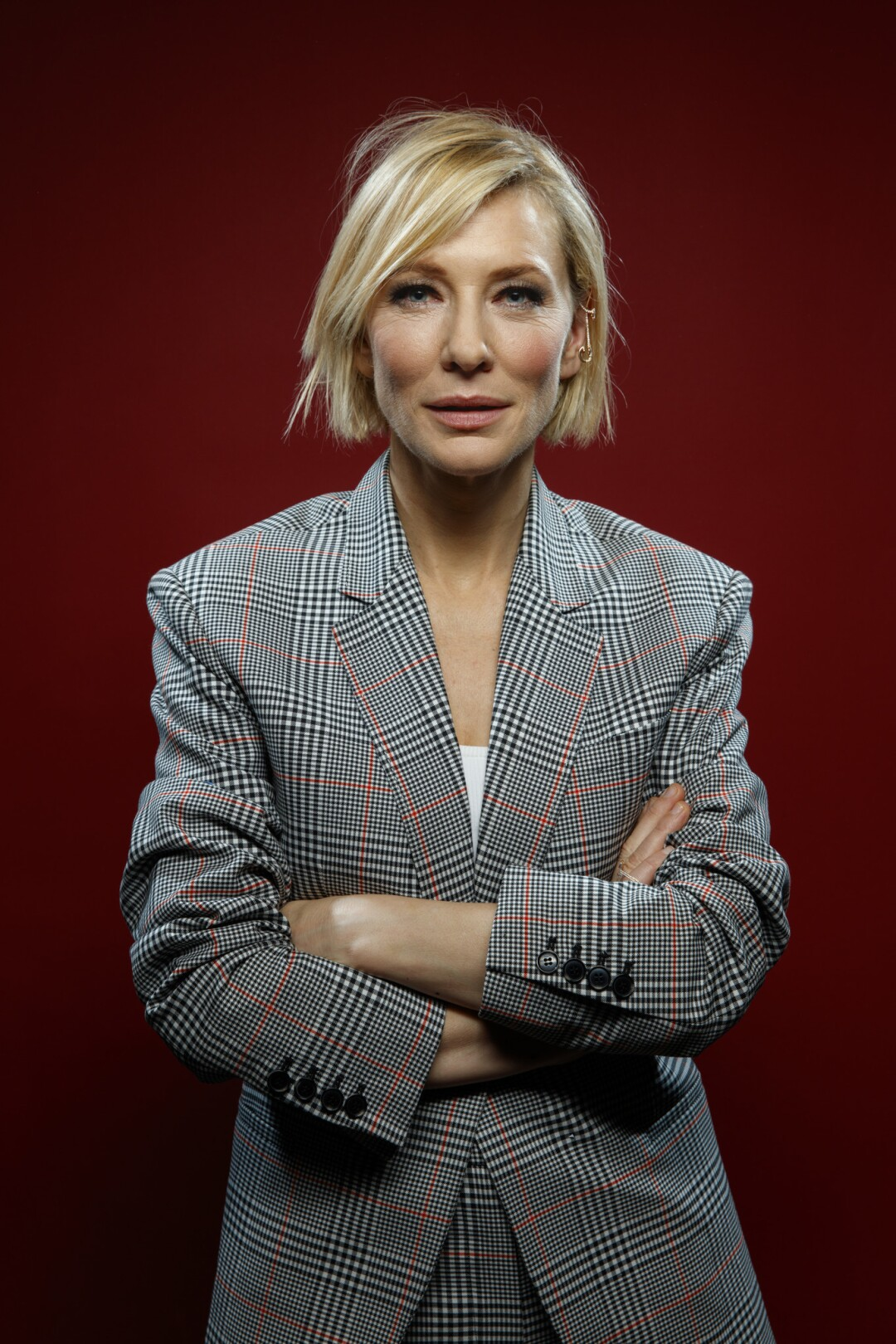 """Cate Blanchett, from the film """"Thor: Ragnarok,"""" photographed in the L.A. Times photo studio at Comic-Con 2017."""