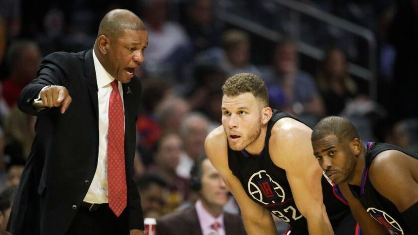 Doc Rivers, Blake Griffin, Chris Paul
