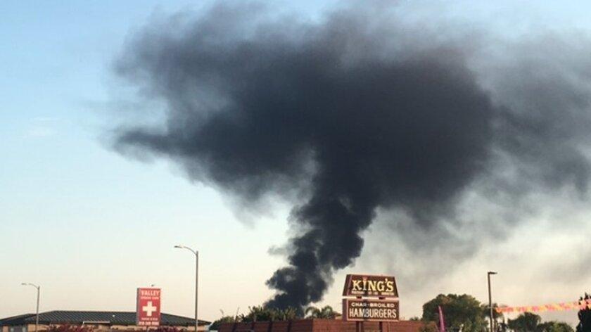 Northridge power station explosion Saturday.
