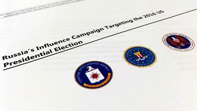 Intelligence report on Russian interference in the U.S. presidential election