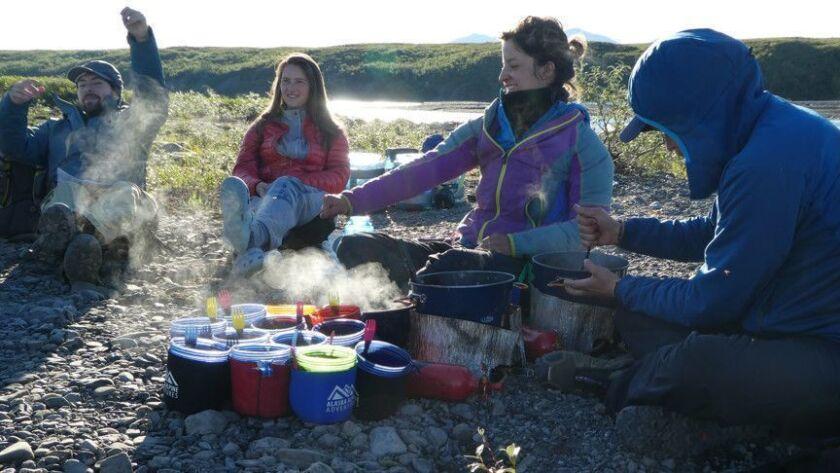 ALASKA-- Dinner conversations can last for hours during the long summer twilight in Alaska's Noatak