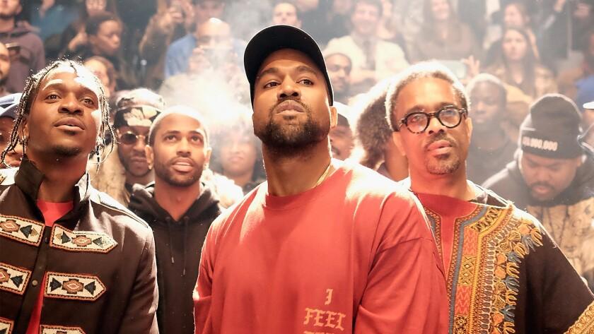Kanye West at his February fashion show, Yeezy Season 3.