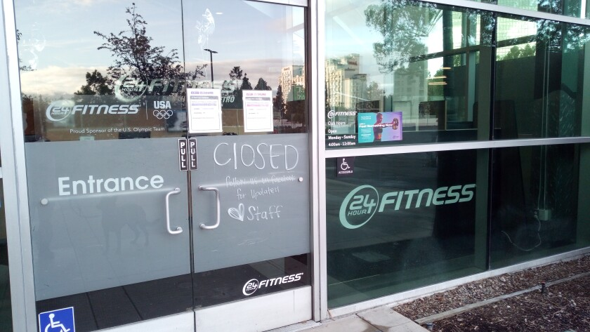 The 24 Hour Fitness on Anton Boulevard in Costa Mesa is closed.
