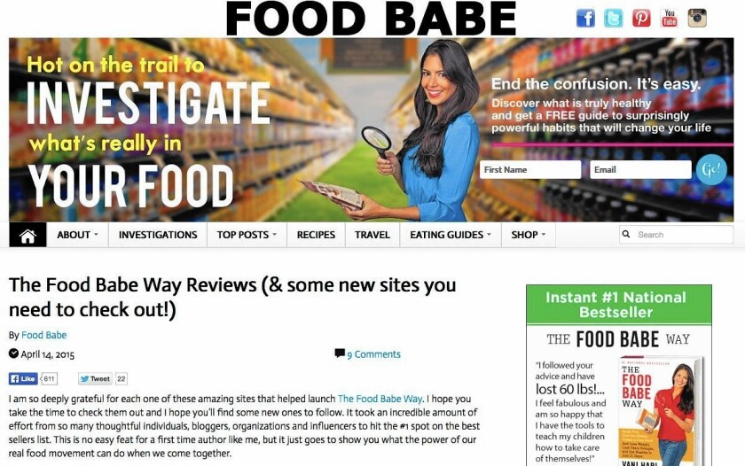 Vani Hari, the Food Babe, urges followers to go on the offensive against companies that use scary-sounding food additives. A funny, foul-mouthed screed against Food Babe by Science Babe Yvette d'Entremont went viral earlier this month.