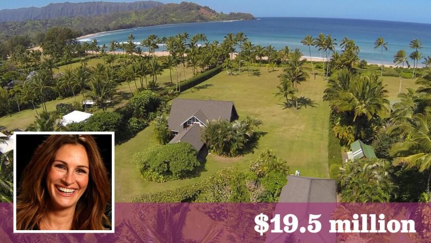 Julia Roberts has lowered the price on her home in Kauai, Hawaii, to $19.5 million.