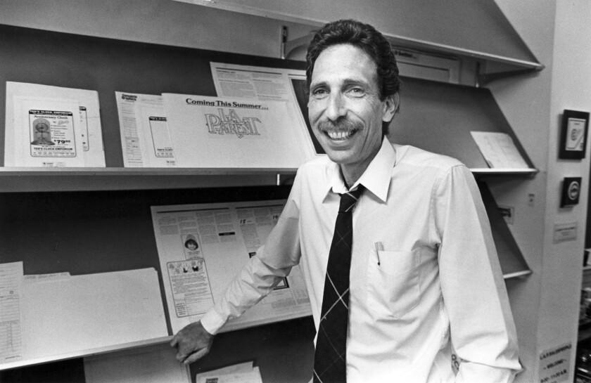 Jack Bierman of L.A. Parent magazine is shown in 1984.
