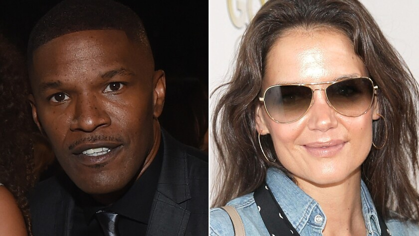 Jamie Foxx and Katie Holmes know each other. That's a fact.