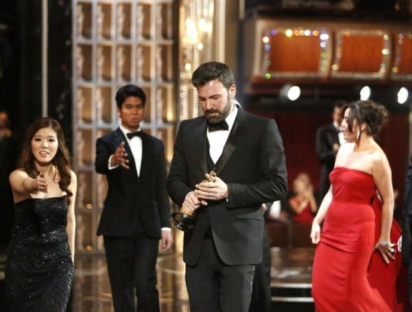 Ben Affleck onstage at the 85th Annual Academy Awards on Feb. 24 at the Dolby Theatre.