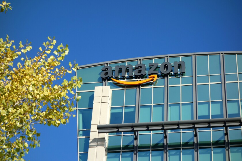 Amazon offices in Sunnyvale, Calif. The online retail giant is set to open a grocery store in the Woodland Hills neighborhood of Los Angeles next year.