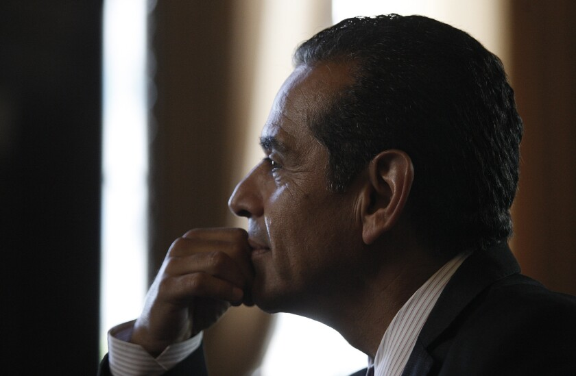 Former Mayor Antonio Villaraigosa announced that he would not run for the Senate seat being vacated by Barbara Boxer.