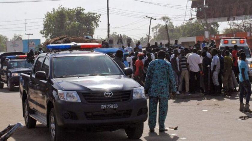 Dos niñas de siete u ocho años de edad fueron usadas para atacar un mercado en la ciudad de Maiduguri, el noreste de Nigeria.
