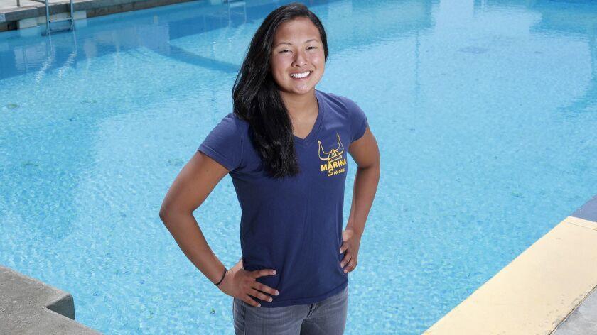 Marina High senior swimmer Sage Matsushima is the Female Athlete of the Week. Matsushima finished se