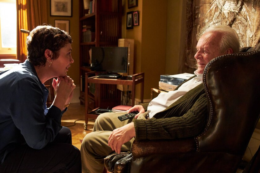 """Olivia Colman and Anthony Hopkins appear in """"The Father"""" by Florian Zeller, an official selection of the Premieres program at the 2020 Sundance Film Festival."""
