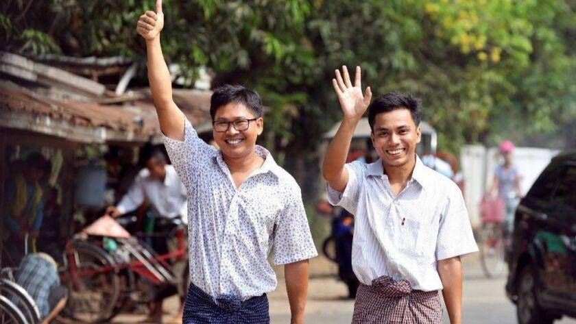 TOPSHOT-MYANMAR-MEDIA-JUSTICE
