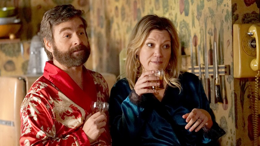 """Zach Galifianakis and October Moore in the season finale of the comedy """"Baskets"""" on FX."""