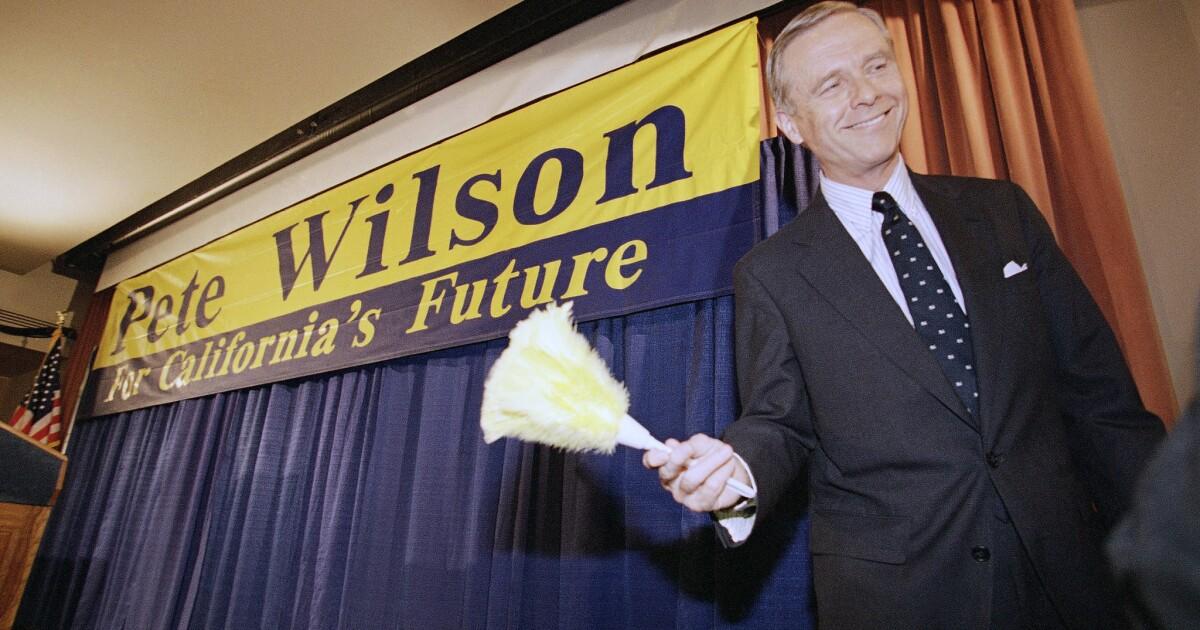 Στήλη: Pete Wilson υπερασπίζεται Στήριγμα. 187 και αγωνίζονται για μια καλύτερη θέση στην ιστορία