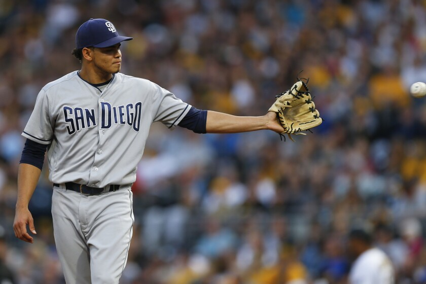 Dinelson Lamet missed 2018 after Tommy John surgery. He is expected to start for the Padres in their series at Dodger Stadium later this week.