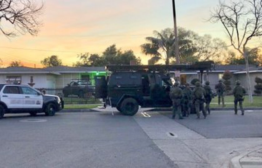 Police detained six people at an illegal gambling house in Santa Ana.