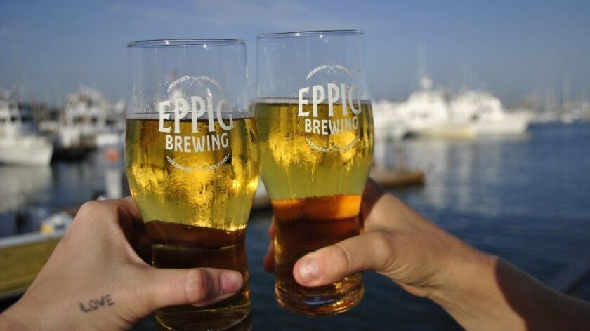 Eppig Brewery's second location, Eppig Waterfront Biergarten, is in Point Loma at 2817 Dickens St.