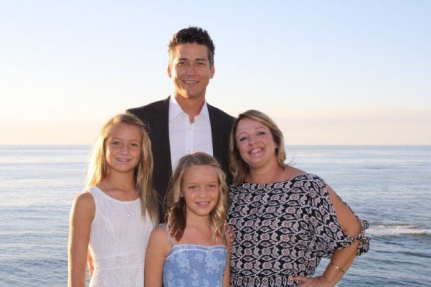 Tim Johnson (pictured with his wife, Kristy, and their children Hayden and Riley) is in need of a kidney donor.
