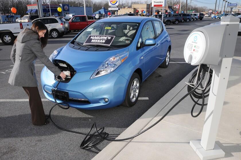 Plug-in Nissan Leaf