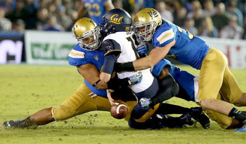 UCLA's Eddie Vanderdoes Jr. a natural talent on the field