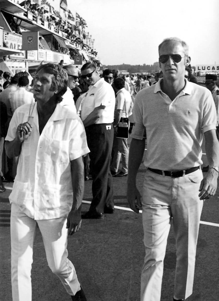 Robert E. Relyea, right, with Steve McQueen