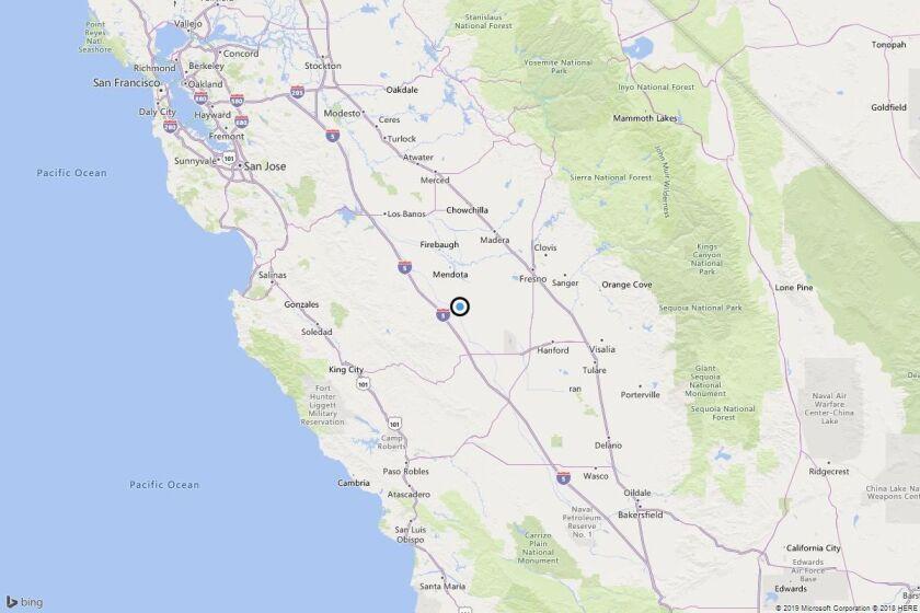 Earthquake: 3.3 quake strikes near Cantua Creek, Calif.