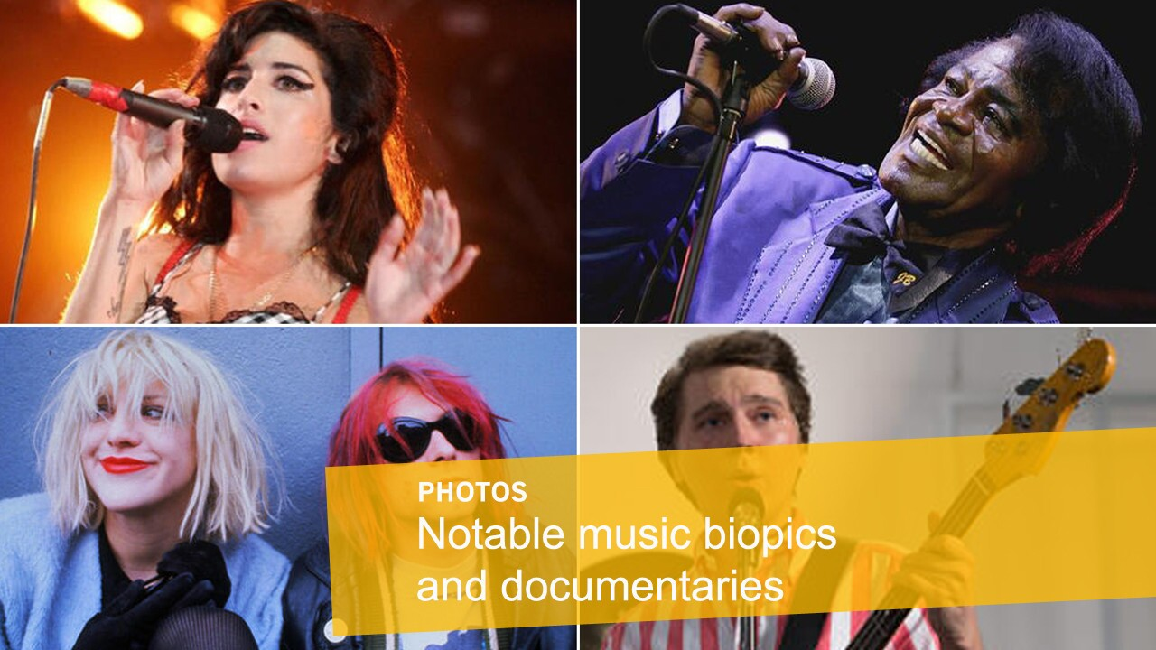 Notable music biopics and documentaries