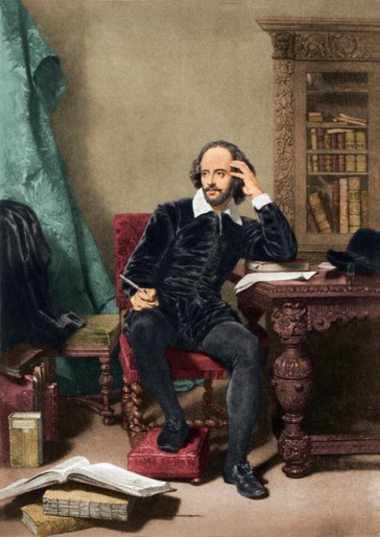 English dramatist and poet William Shakespeare circa 1600.