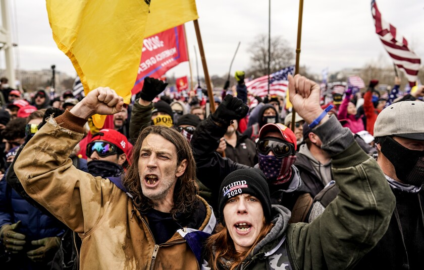 Protesters storm the U.S. Capitol.