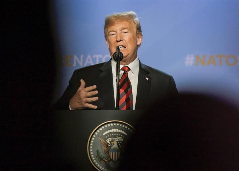 El presidente de los Estados Unidos, Donlad J. Trump, ofrece una rueda de prensa. EFE/Archivo