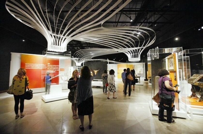 The 14,000-square-foot exhibit is part of the museum's $135-million expansion unveiled in June.