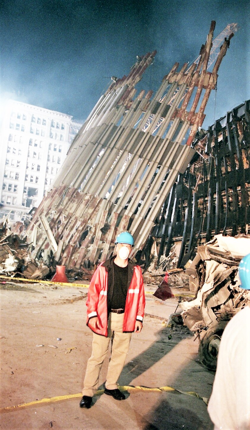 Gerry Bedard on Sept. 16, 2001 during his first trip to bring supplies to those working at the World Trade Center site.