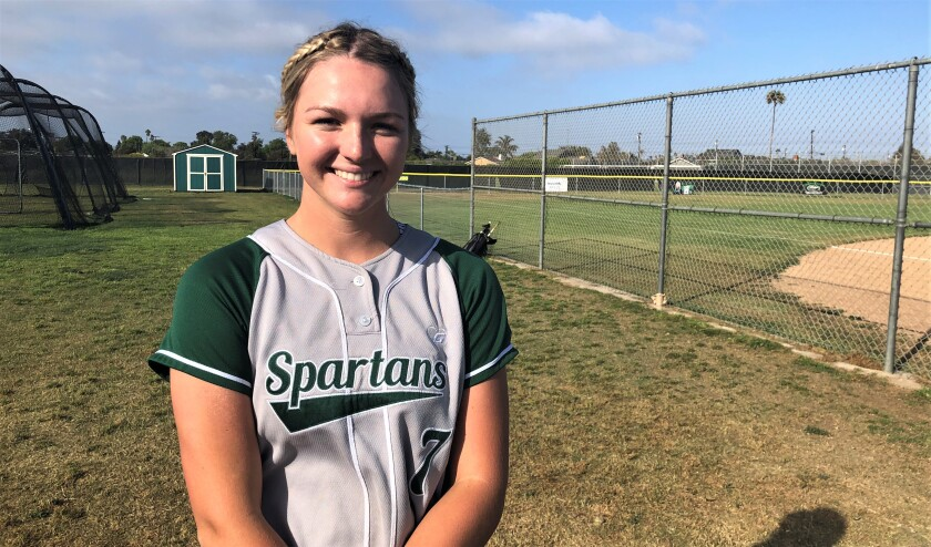 South Torrance softball standout Reagan Walsh poses for a photo.
