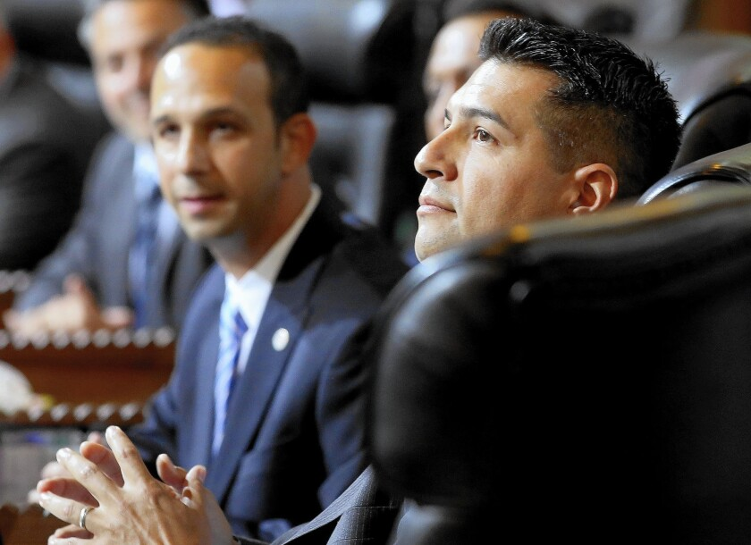 Los Angeles City Councilman Felipe Fuentes, shown in 2013, denies any contradiction in his dealings with the Department of Water and Power.
