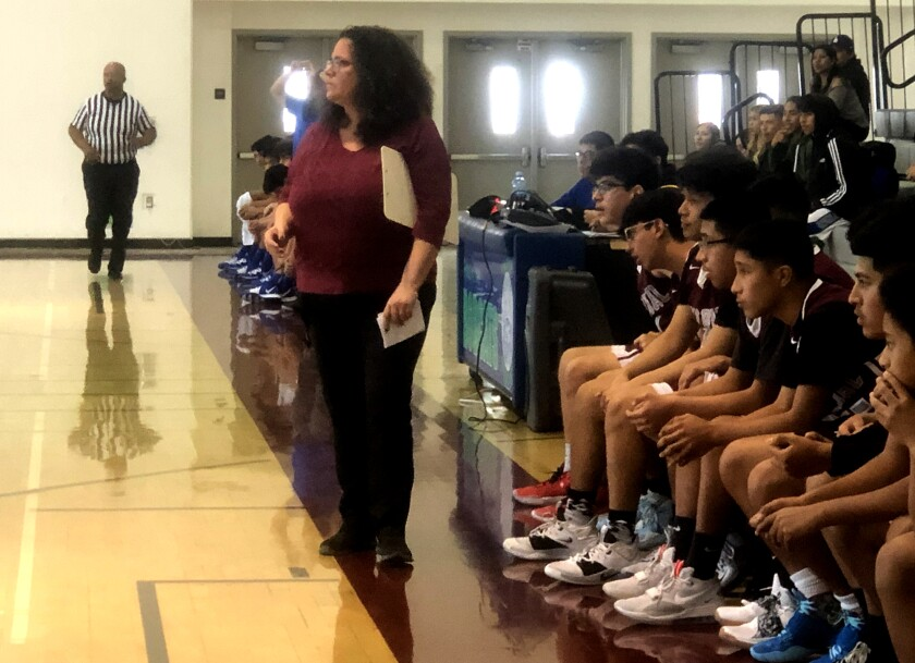 Roybal interim coach Gina Capobianco took over after the death last week of Danny O'Fallon.