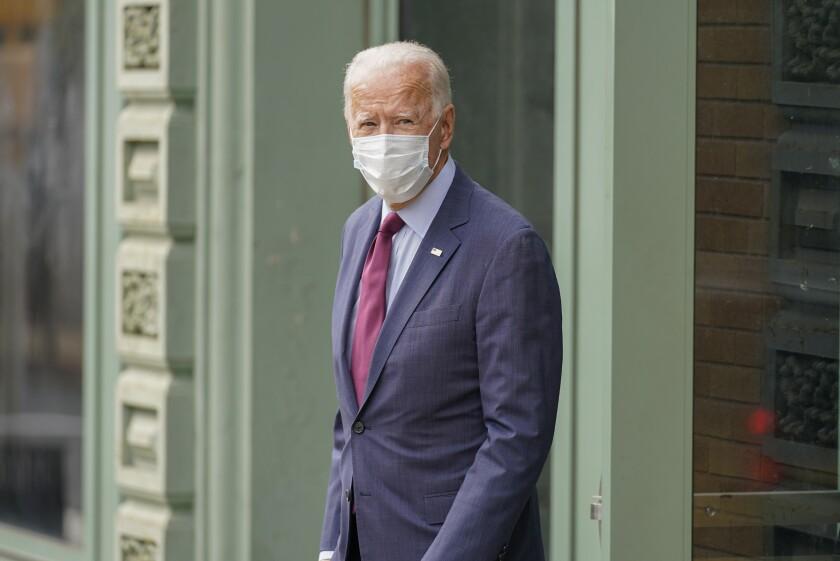 El candidata presidencial demócrata Joe Biden