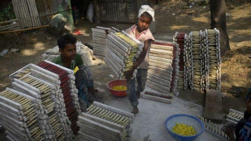 El trabajo infantil es frecuente en Bangladesh.