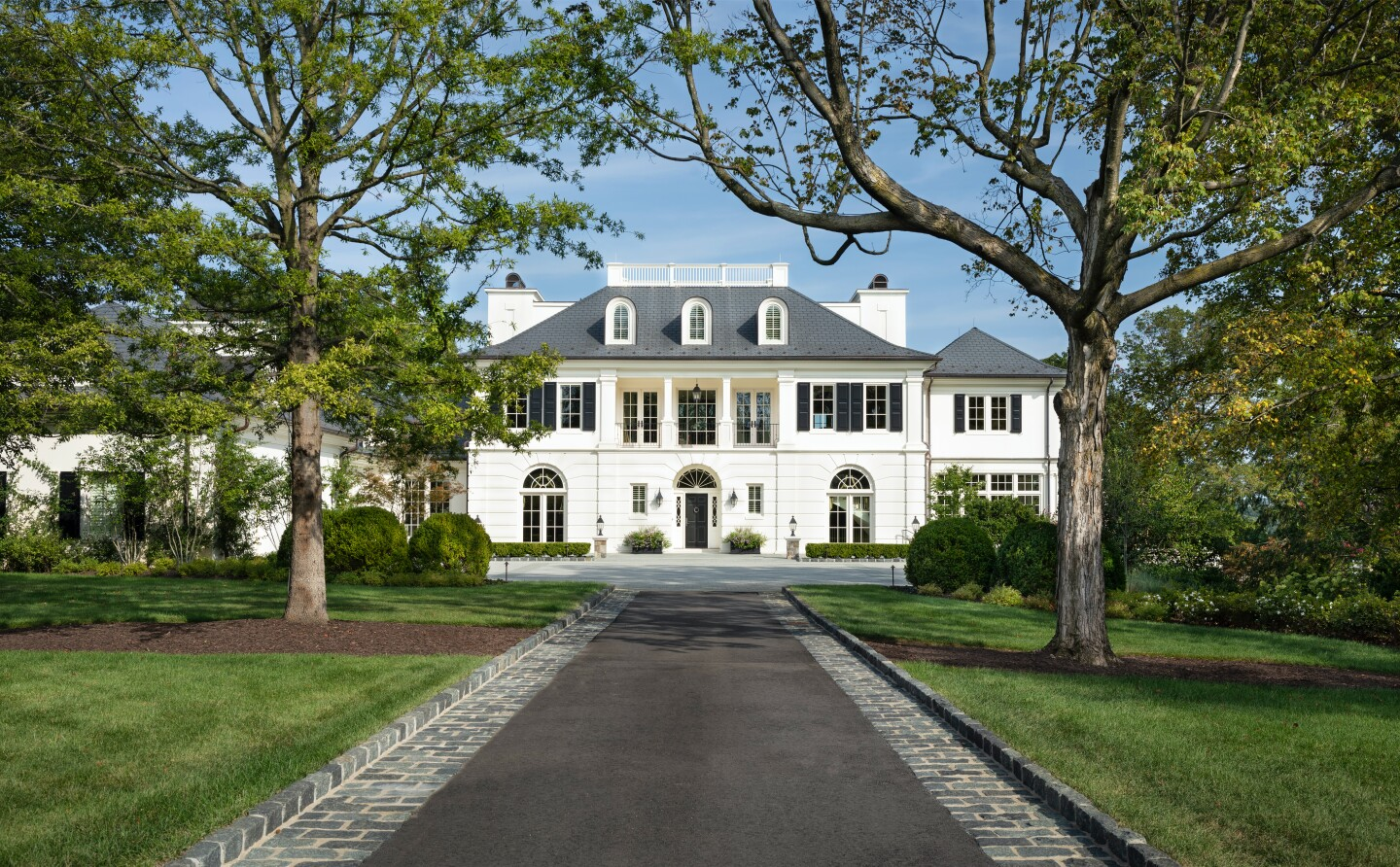 The 16.5-acre estate on the Potomac River centers on a 16,000-square-foot Federal-style mansion built in 2018.