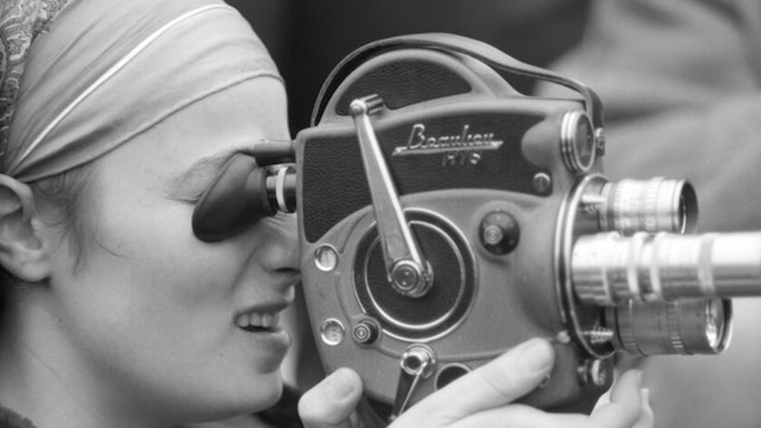 "A photograph of Barbara Rubin in a scene from ""Barbara Rubin & the Exploding New York Underground."""