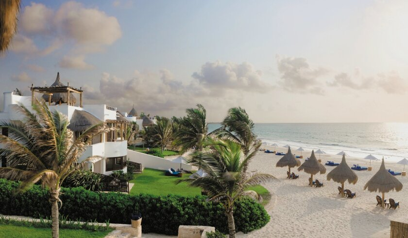 The 64-room luxury Maroma Resort and Spa is a Yucatán Peninsula hideaway with ivory-sand beaches.