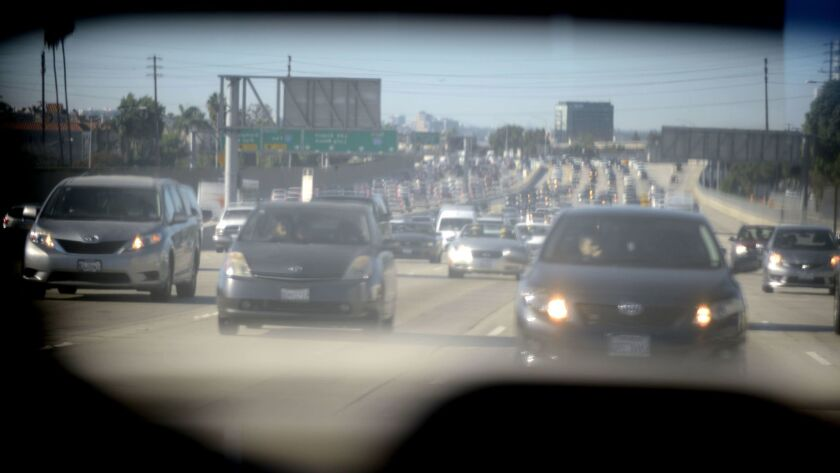 Traffic on the 405.