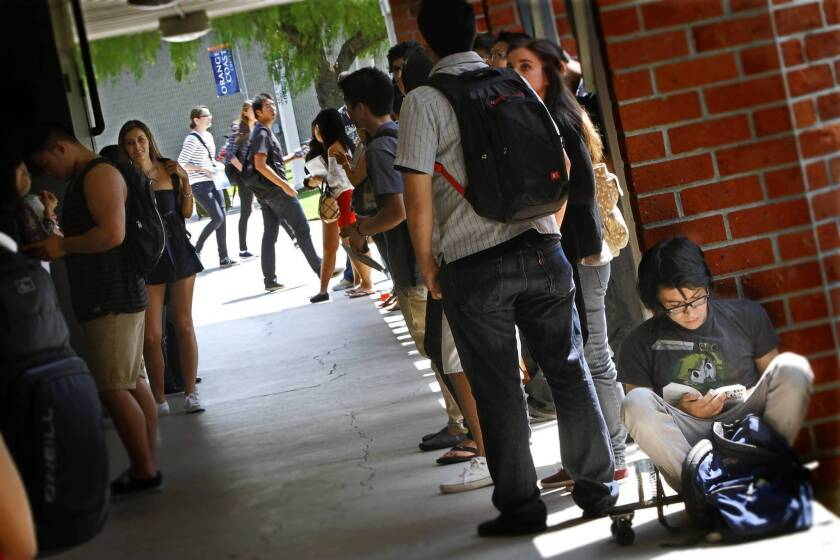 Students at Orange Coast College who need financial help amid the economic fallout from the coronavirus pandemic can apply for grants through the Pirates United Emergency Fund. The college's Costa Mesa campus is closed in response to the health crisis.