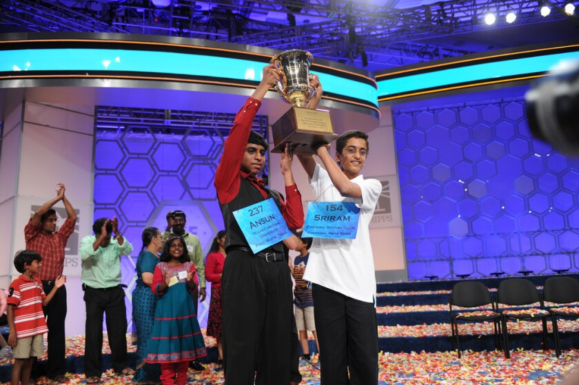 Spelling Bee co-champions