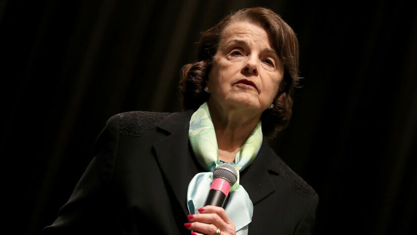LOS ANGELES, CALIF. -- THURSDAY, APRIL 20, 2017: Sen. Diane Feinstein (D-CA) holds a town hall meeti