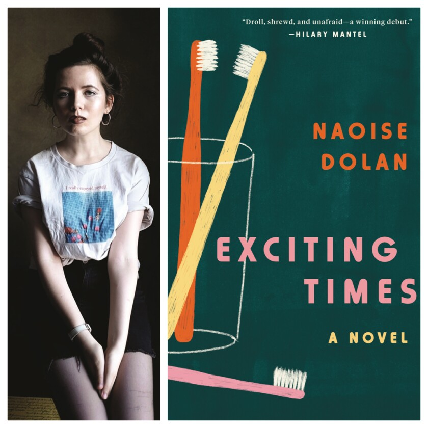 "Naoise Dolan and her debut novel, ""Exciting Times."""